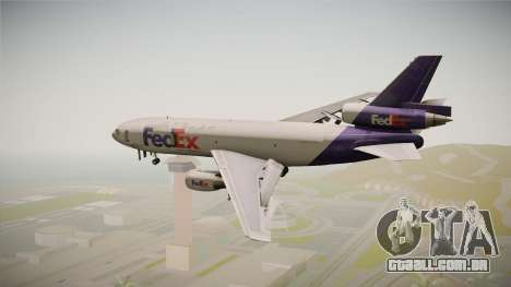 McDonell-Douglas DC-10-30F Fedex para GTA San Andreas vista direita
