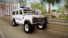 Land Rover Defender 110 Polícia para GTA San Andreas