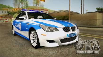 BMW M5 E60 Saobracajna Policija para GTA San Andreas