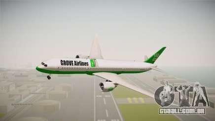 Boeing 787 Grove Airlines para GTA San Andreas