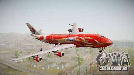 Boeing 747 Malaysia Airlines Hibiscus Livery para GTA San Andreas