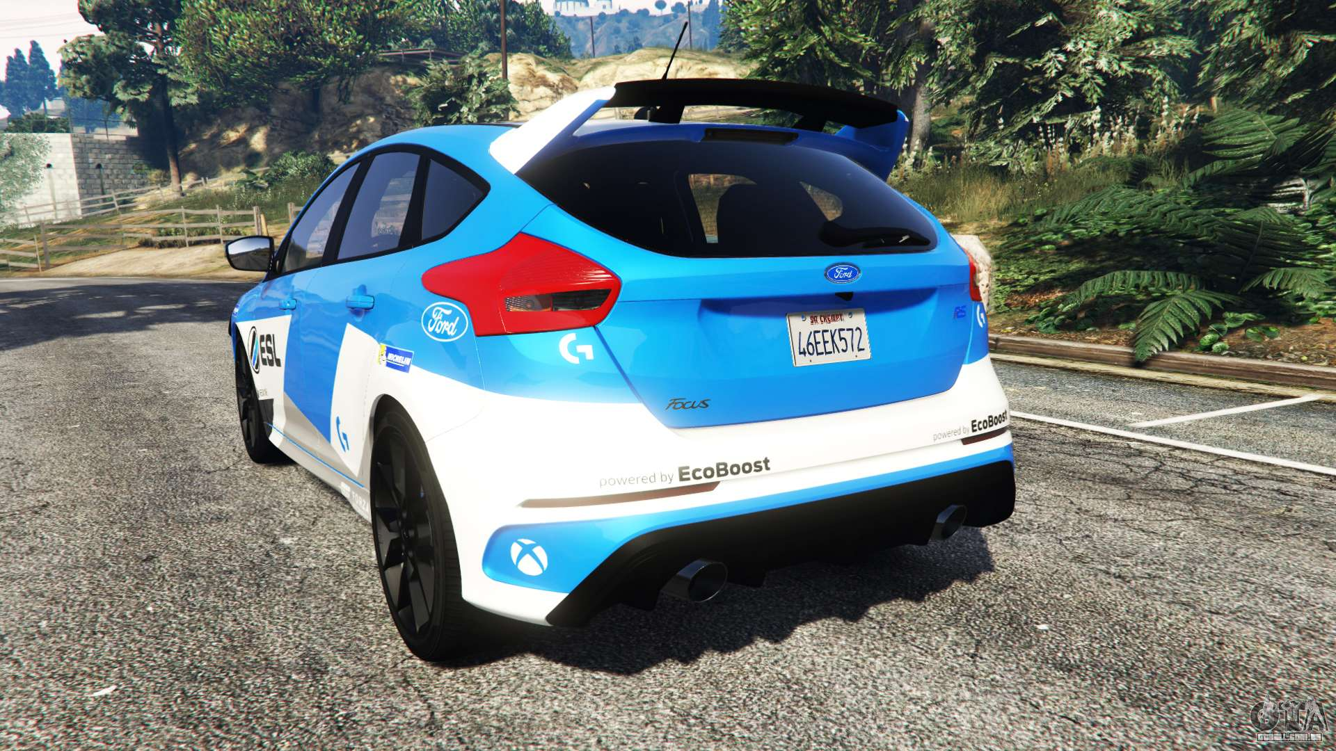 ford focus rs dyb 2017 add on para gta 5. Black Bedroom Furniture Sets. Home Design Ideas
