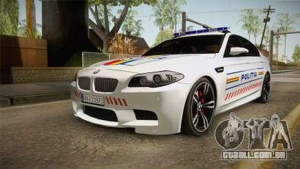 BMW M5 F10 Romanian Police para GTA San Andreas