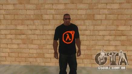 T-shirt com o logo do Half-Life 2 para GTA San Andreas