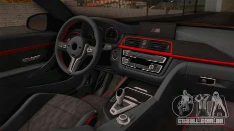 BMW M4 RS para GTA San Andreas vista interior