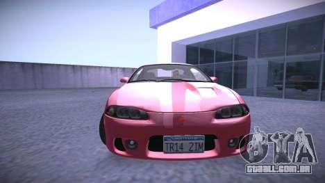 Mitsubishi Eclipse GSX para GTA San Andreas traseira esquerda vista