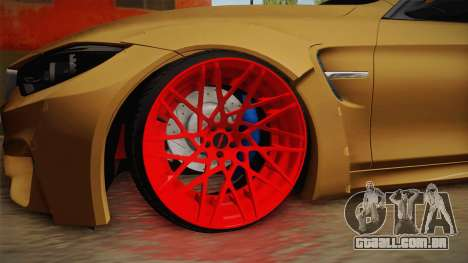 BMW M4 RS para GTA San Andreas vista traseira