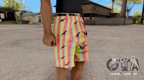 Shorts com gaivotas para GTA San Andreas segunda tela