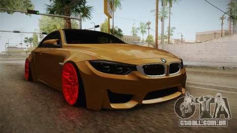 BMW M4 RS para GTA San Andreas vista direita