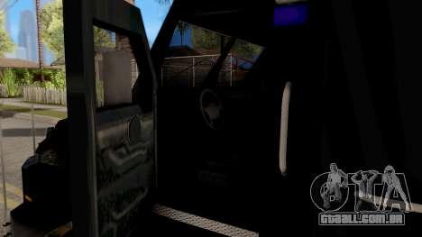 BearCat SWAT Truck para GTA San Andreas vista interior