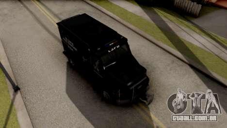 BearCat SWAT Truck para GTA San Andreas vista direita