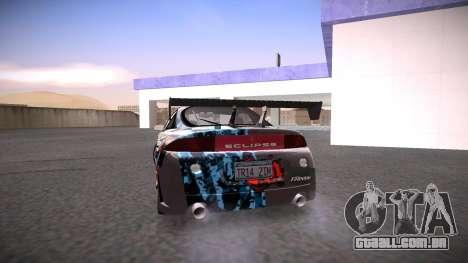Mitsubishi Eclipse GSX para GTA San Andreas vista inferior