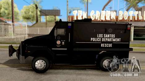 BearCat SWAT Truck para GTA San Andreas esquerda vista