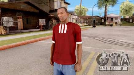 Adidas T-Shirt Red para GTA San Andreas