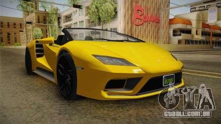 GTA 5 Pegassi Tempesta Spyder IVF para GTA San Andreas