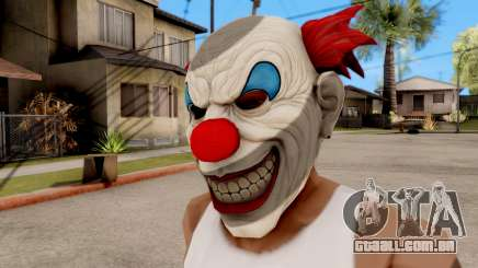 Máscara De Palhaço Mal para GTA San Andreas