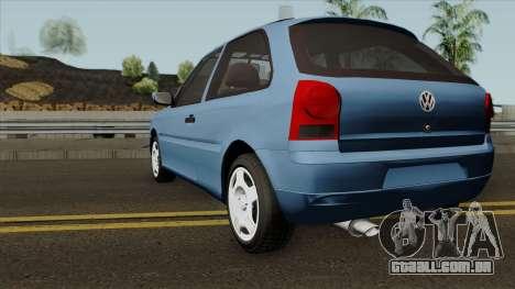 Volkswagen Gol Power para GTA San Andreas traseira esquerda vista