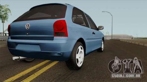 Volkswagen Gol Power para GTA San Andreas vista direita