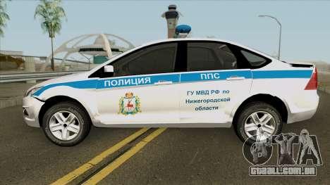 Ford Focus 2009 Police para GTA San Andreas