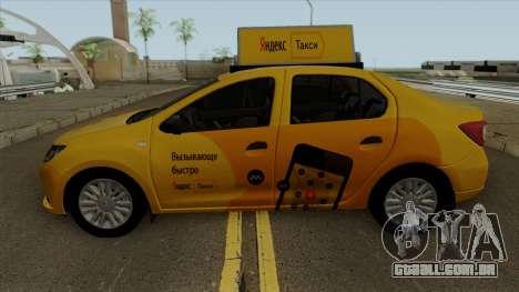 Renault Logan 2017 Yandex Táxi para GTA San Andreas