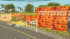 Jefferson Motel brilhantes e cores quentes para GTA San Andreas