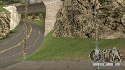 Luzes e Pilares Decorados com Guirlandas para GTA San Andreas