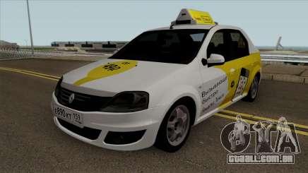 Renault Logan Yandex Táxi para GTA San Andreas