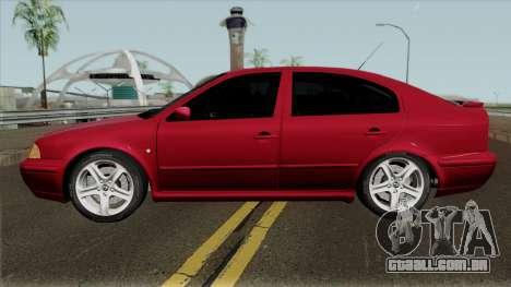 Skoda Octavia Liftback para GTA San Andreas esquerda vista