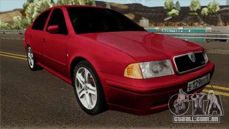 Skoda Octavia Liftback para GTA San Andreas vista interior
