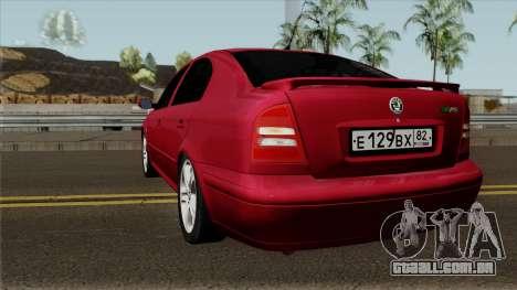Skoda Octavia Liftback para GTA San Andreas traseira esquerda vista