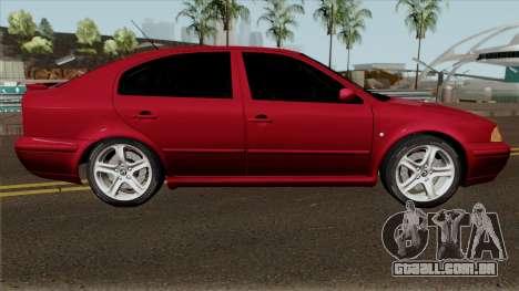 Skoda Octavia Liftback para GTA San Andreas vista traseira
