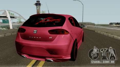 Seat Leon Cupra R para GTA San Andreas vista direita