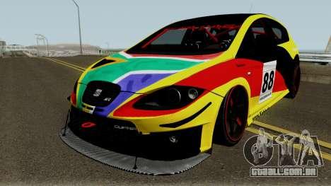 Seat Leon Cupra R para GTA San Andreas vista superior