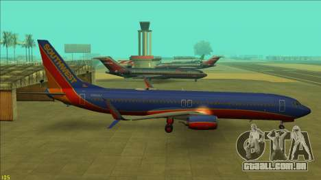 Southwest Airlines 737-800 para GTA San Andreas
