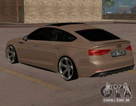 Audi S5 B9 Sportback para GTA San Andreas