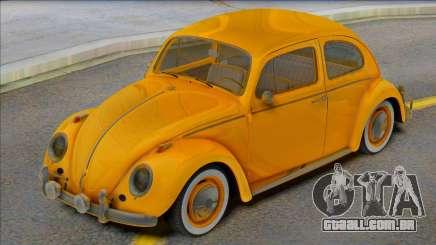Volkswagen Beetle 1966 Yellow para GTA San Andreas