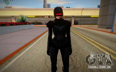 GTA V Female Robocop para GTA San Andreas