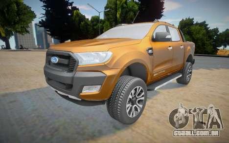 Ford Ranger Cabine Dupla Wildtrak 2016 para GTA San Andreas
