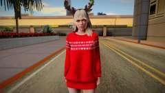 Rachel Christmas Outfit para GTA San Andreas