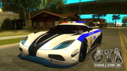 Police Koenigsegg Agera R para GTA San Andreas