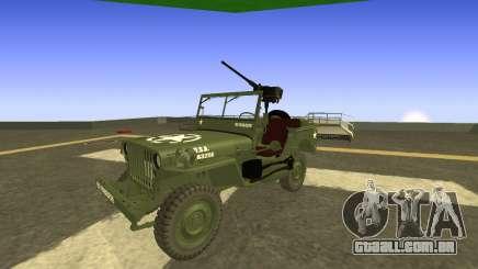 JEEP Wrangler Exército dos EUA Harinder Mods para GTA San Andreas