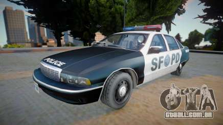 Chevrolet Caprice 1992 (SFPD) - Improved para GTA San Andreas