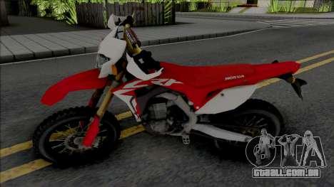 Honda CRF150R para GTA San Andreas