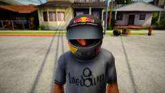 Racing Helmet Red Bull para GTA San Andreas