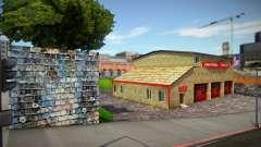 Estação de bombeiros renovada (boas texturas) para GTA San Andreas