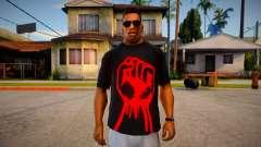 Red Fist T-Shirt para GTA San Andreas