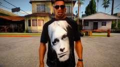 Kurt Cobain T-Shirt para GTA San Andreas