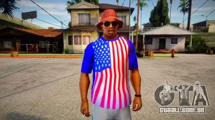 T-shirt Independence Day DLC V2 para GTA San Andreas