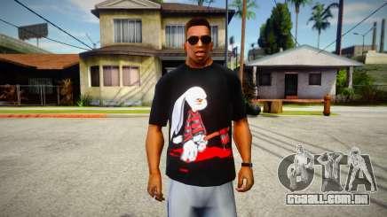 Evil Serial Killer Bunny T-Shirt para GTA San Andreas