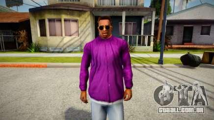 Jaqueta de grupo ballas para GTA San Andreas